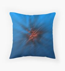 Abstract Digital Blurred Star Throw Pillow