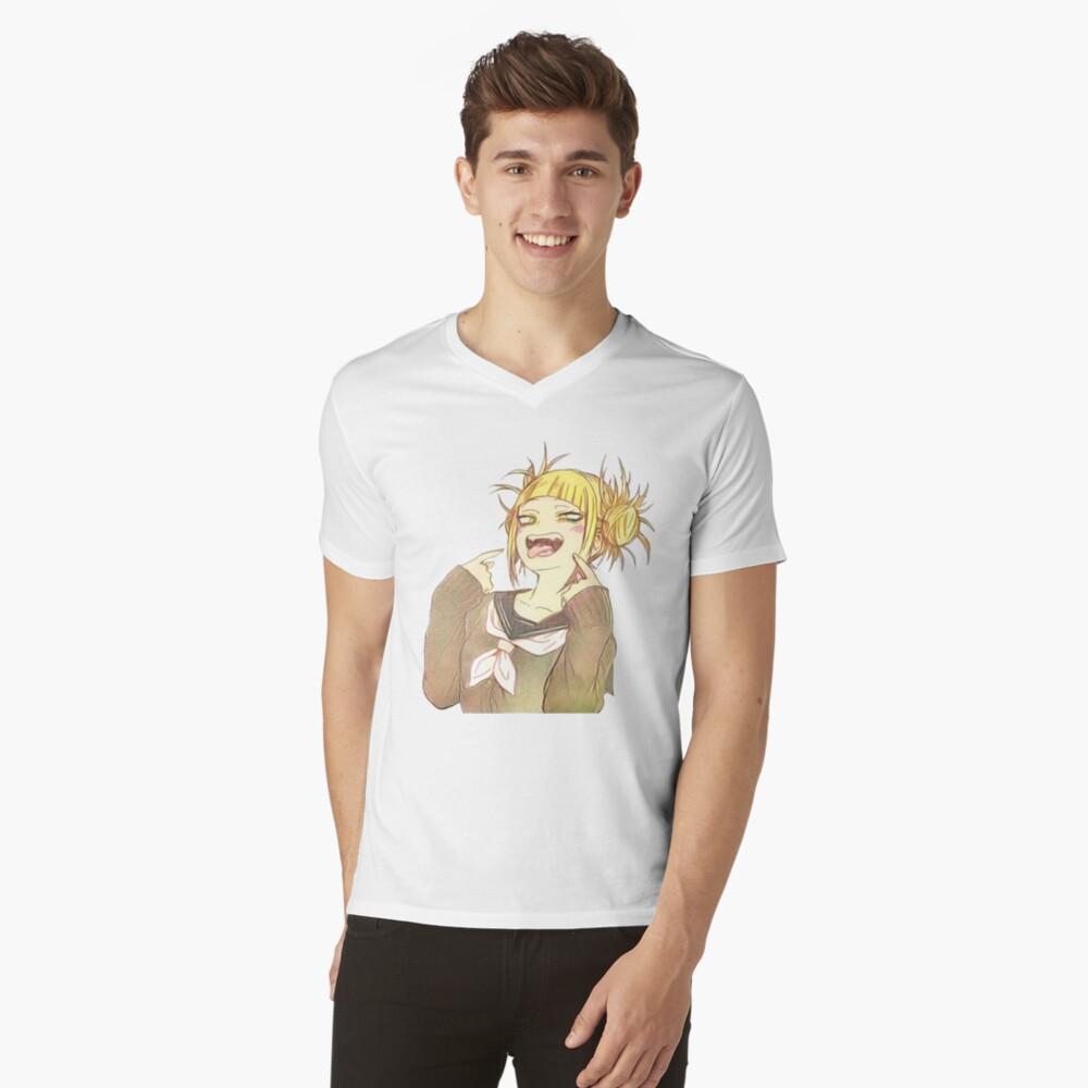 Toga-Zunge T-Shirt mit V-Ausschnitt