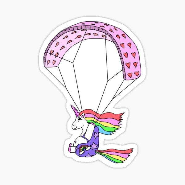 Les fous errants - Paracorn, la licorne de parapente Sticker