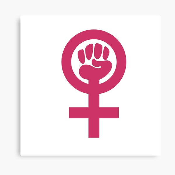 Feminism Symbol Canvas Print