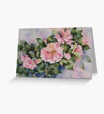 Pink Camellias Greeting Card