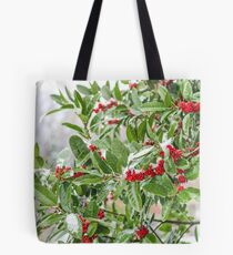 Winter Holly  Tote Bag