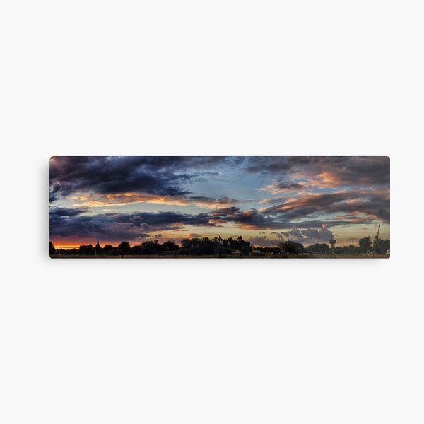 Sunset in the village Metal Print