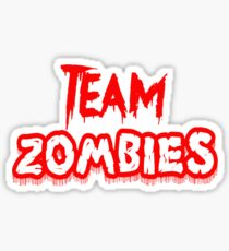 Team Zombies Scary Sticker