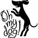Oh my dog! (in black) by Denys Golemenkov