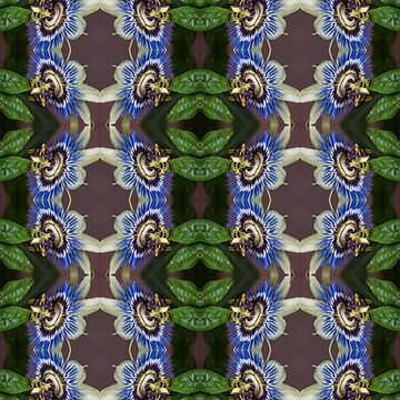 Passion Flower from Side Seamless Pattern by shane22