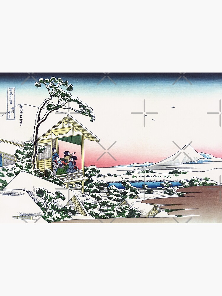 Tea House At Koishikawa The Morning After A Snowfall By Katsushika Hokusai Postcard By Takeda Art Redbubble