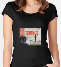 Boring BANKSY Women's Fitted Scoop T-Shirt