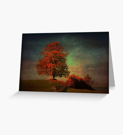 Majestic Linden Berry Tree Greeting Card