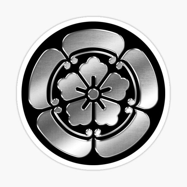 Oda Clan Kamon Silver Chrome Sticker