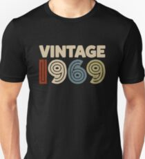 Vintage 1969 Turning 50 In 2019 Funny 50th Birthday Shirt Slim Fit T-Shirt
