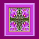 Friendship with Mauve Flower Photo Collage by Julia Woodman