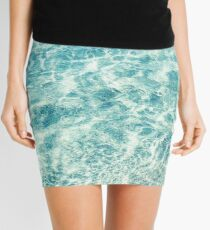 Crystal Clear Aqua Blue Ocean Water Mini Skirt