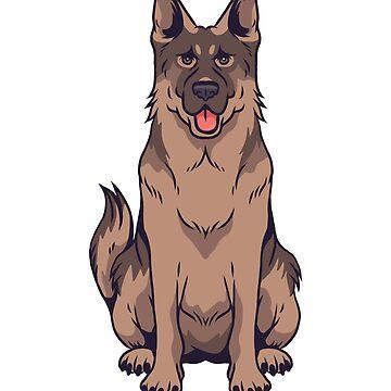 German Shepherd Design by litteposterco