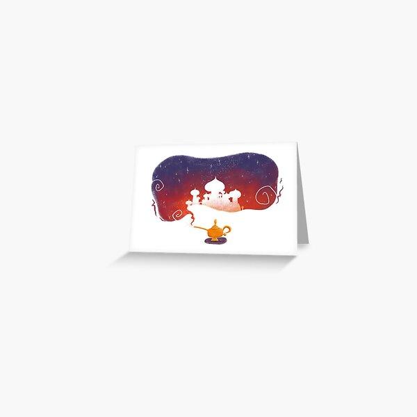 Magic lamp Greeting Card