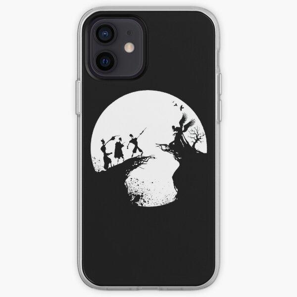 Histoire de la mort Noir et blanc  Coque souple iPhone