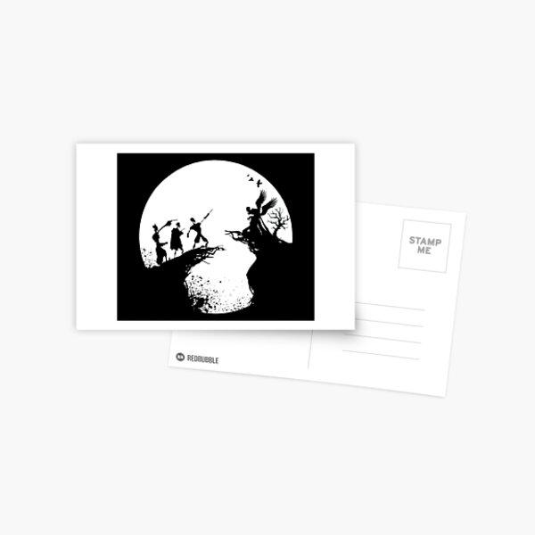 Histoire de la mort Noir et blanc  Carte postale