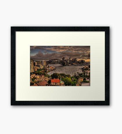 City - Moods Of A City - The HDR Experience Framed Print