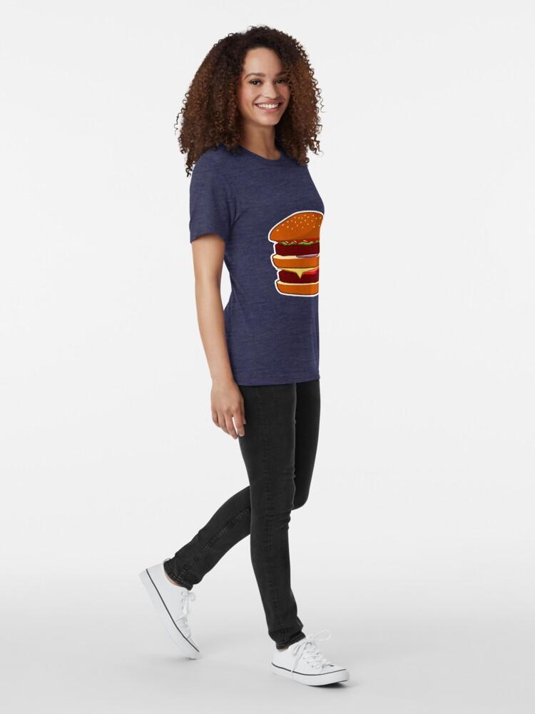 Alternate view of Burger Tri-blend T-Shirt
