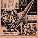Vintage Hollywood Nostalgia Flight to Mars Film Movie Advertisement Poster by jnniepce