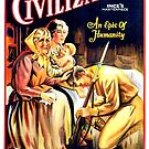 Vintage Hollywood Nostalgia Civilization Film Movie Advertisement Poster by jnniepce