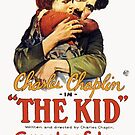 Vintage Hollywood Nostalgia The Kid Charlie Chaplin Film Movie Advertisement Poster by jnniepce