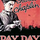 Vintage Hollywood Nostalgia Pay Day Charlie Chaplin Film Movie Advertisement Poster by jnniepce