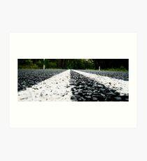 bitumen road Art Print