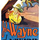 Vintage Hollywood Nostalgia The Dawn Rider John Wayne Film Movie Advertisement Poster by jnniepce