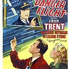 Vintage Hollywood Nostalgia Tailspin Tommy Danger Flight Film Movie Advertisement Poster by jnniepce