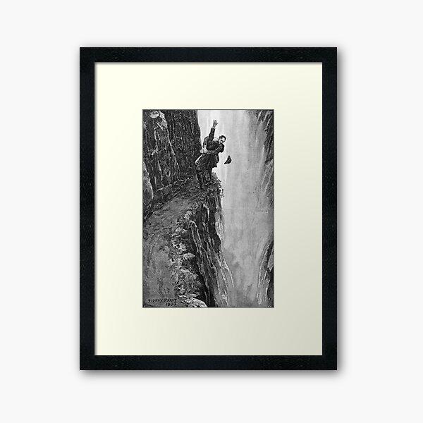 Sydney Paget - Fantastic print from Sherlock Holmes The Final Problem / Reichenbach Falls Framed Art Print