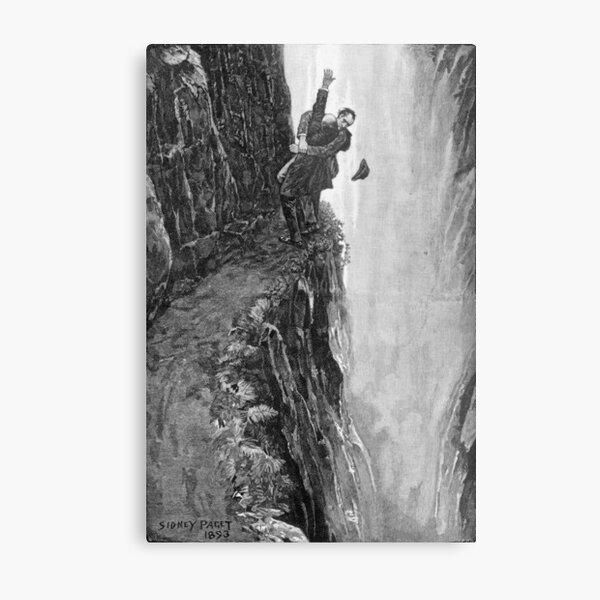 Sydney Paget - Fantastic print from Sherlock Holmes The Final Problem / Reichenbach Falls Metal Print
