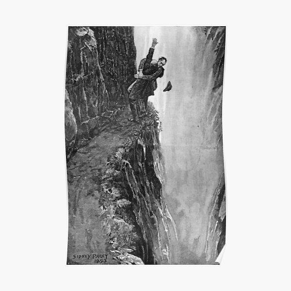 Sydney Paget - Impression fantastique de Sherlock Holmes The Final Problem / Reichenbach Falls Poster