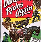 Vintage Hollywood Nostalgia Don Daredevil Rides Again Film Movie Advertisement Poster by jnniepce