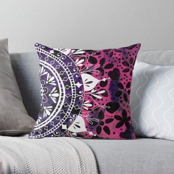 Pink Pattern Flower Pattern Throw Pillow