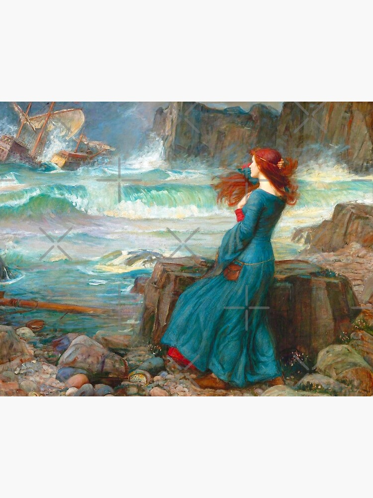 John William Waterhouse The Tempest Canvas Art Print Miranda