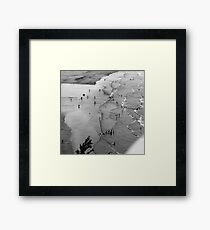 Figures in a Landscape Framed Print