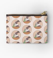 Cute Bunny Rabbit Scientist with Green Microscope Zipper Pouch