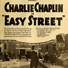 Vintage Hollywood Nostalgia Easy Street Charlie Chaplin Film Movie Advertisement Poster by jnniepce