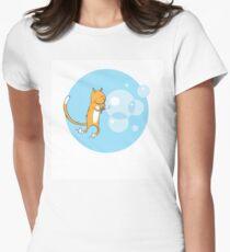 Cat and soap bubbles. T-Shirt
