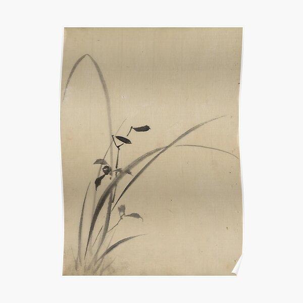 Grasses - Hokusai Katsushika - 1850 Poster