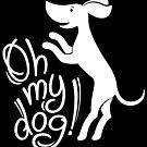 Oh my dog! (in white) by Denys Golemenkov