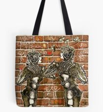 Graffiti Hearts [Digital Figure Illustration] Message on the Mortar Version 3 Tote Bag