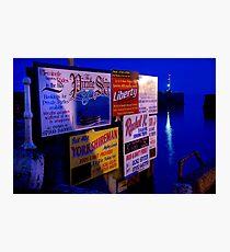 harbour info. Photographic Print