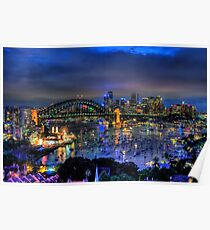 Illumination - Sydney Harbour, Australia - The HDR Experience Poster