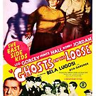 Vintage Hollywood Nostalgia Ghosts on the Loose Film Movie Advertisement Poster by jnniepce