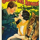 Vintage Hollywood Nostalgia Galloping Romeo Bob Steele Film Movie Advertisement Poster by jnniepce