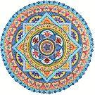 Passion Flower Mandala #1 by Julie Ann Accornero
