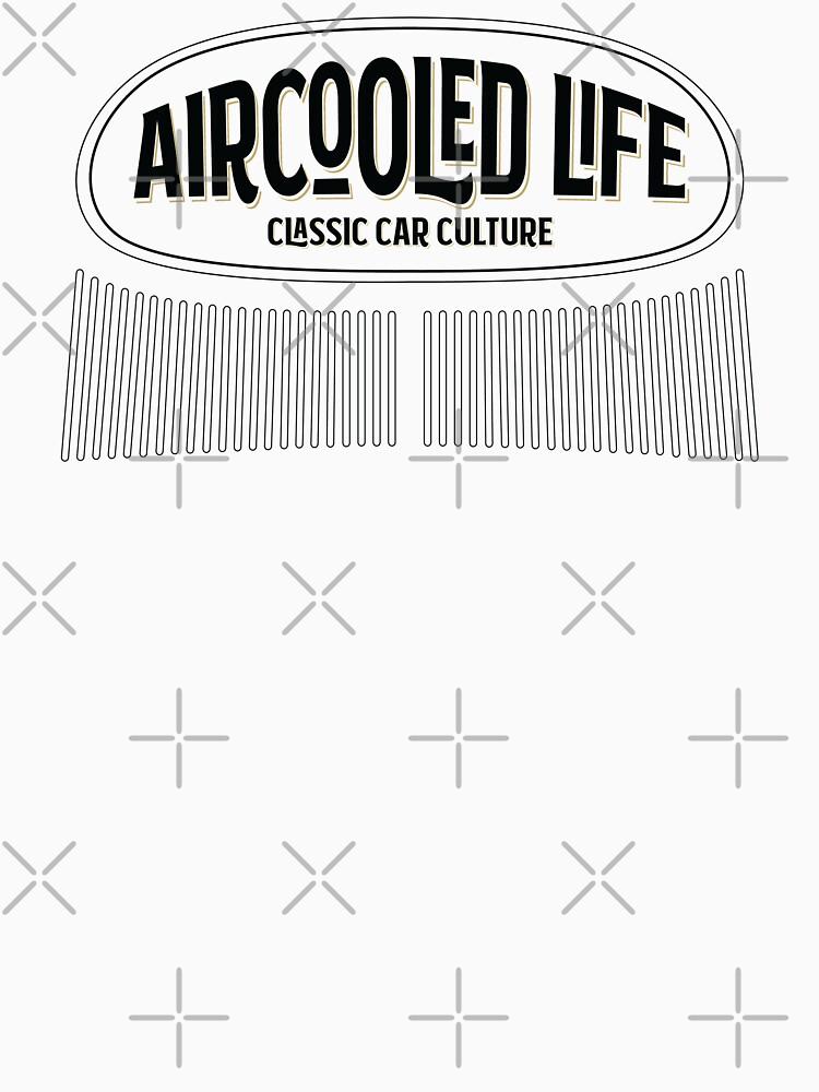 Aircooled Life - Classic Car Culture Oval Beetle design by Joemungus