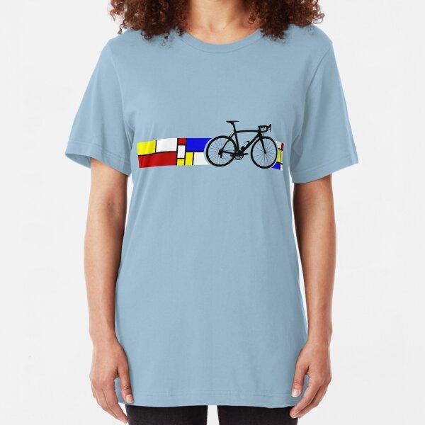 Bike Stripes Mondrian Slim Fit T-Shirt